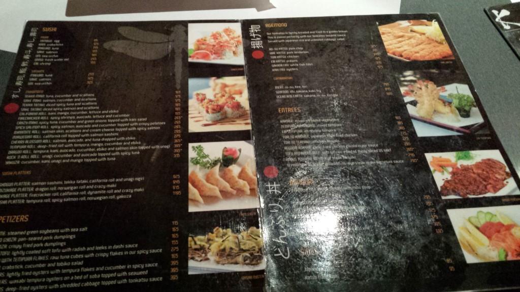 20131208 203329 1024x576 マニラのBonifacio Global City にあるKatsuという日本食レストランに行ってみたが・・・
