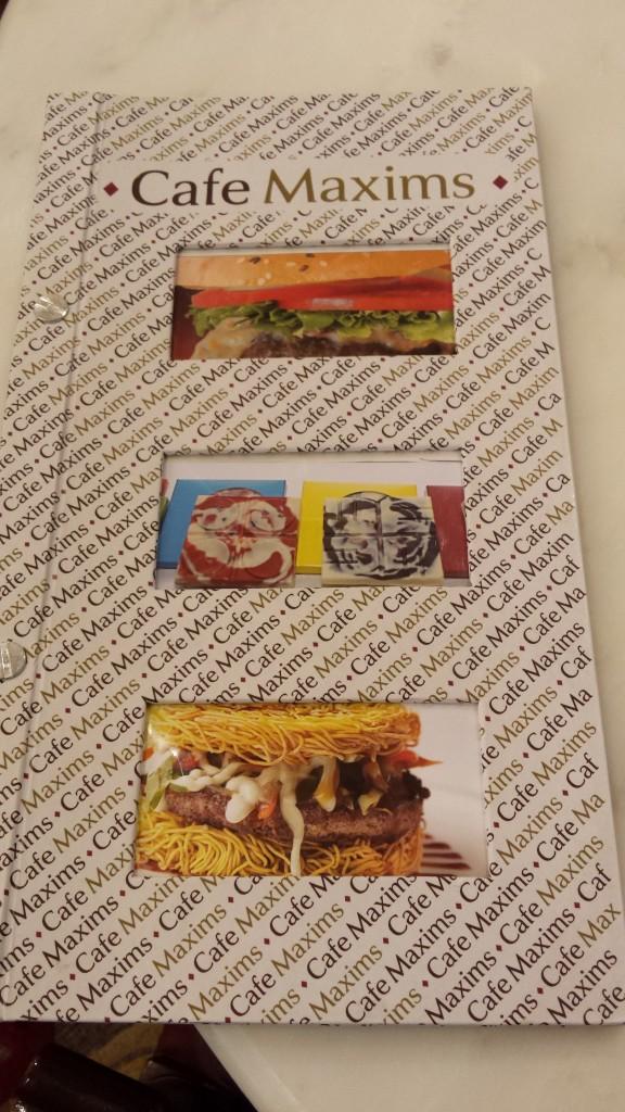 20140111 203838 576x1024 高級ホテルにあるカフェ Cafe Maxims でなぜかラーメンバーガーが提供されていた