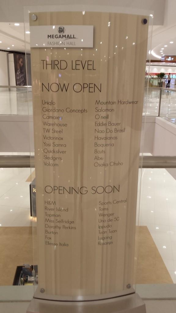 20140128 203434 e1391268976873 576x1024 マニラのSM MegamallにMega Fashion Hallがオープンしたので行ってきた