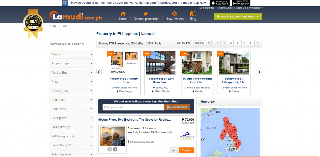 lamudi 1024x504 巨大資本企業Rocket Internetのフィリピンにおけるネット事業展開状況